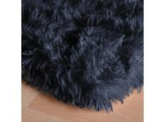 Plyšový dětský koberec MAX TMAVĚ ŠEDÝ