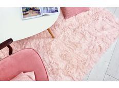 Plyšový dětský koberec MAX světle růžový