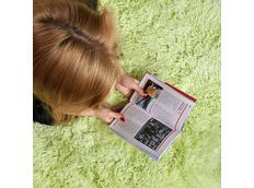 Plyšový dětský koberec MAX SVĚTLE ZELENÝ