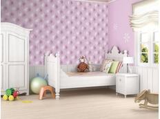 Tapeta fialové puntíky - 350x245 cm