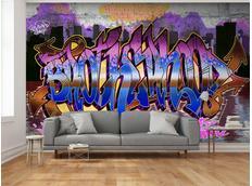 Tapeta barevné graffiti - 350x245 cm