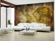 Tapeta historická mapa světa - 350x245 cm