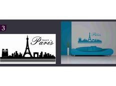 Samolepky na zeď MĚSTA color - PARIS