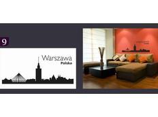 Samolepky na zeď MĚSTA color - WARSZAWA