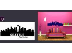 Samolepky na zeď MĚSTA color - SEATTLE