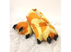 Plyšové papuče KIGU - žirafí vzor