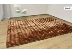 Kusový koberec Shaggy MAX cosmo - hnědý