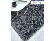 Kusový koberec Shaggy MAX mussy - tmavě šedý