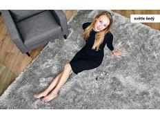Kusový koberec Shaggy MAX puffy - světle šedý