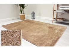 Kusový koberec Shaggy MAX velvet - světle béžový