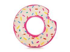 Nafukovací plavací kruh DONUT - růžovobílý