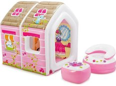 Nafukovací domeček PRINCESS - růžový