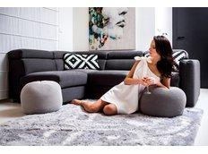 Dětský plyšový koberec STŘÍBRNÝ