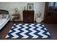 Moderní koberec modro-bílý FA66