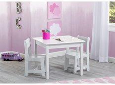Dětský stůl se židlemi - bílý