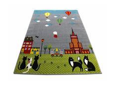 Dětský koberec Létající balóny - šedý