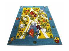 Dětský koberec Veselá zoo - modrý