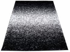 Kusový koberec SHAGGY TOP - černo-bílý