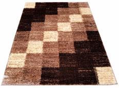 Kusový koberec SHAGGY TOP - kostky - cappuccino