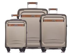 Moderní cestovní kufry STOCKHOLM - zlaté