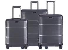 Moderní cestovní kufry VIENNA - tmavě šedé
