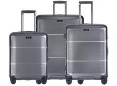Moderní cestovní kufry VIENNA - světle šedé