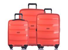 Moderní cestovní kufry ACAPULCO - pomerančové