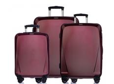 Moderní cestovní kufry LONDON - červené
