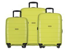 Moderní cestovní kufry MADAGASKAR - limetkové