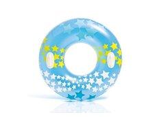 Nafukovací plavecký kruh modrý - 91 cm