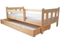 Dětská postel z MASIVU DP022 - bezbarvý lak