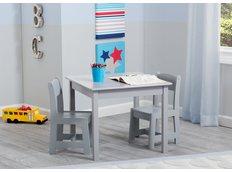 Dětský stůl se židlemi - šedý