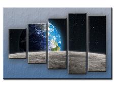 PĚTIDÍLNÝ OBRAZ na plátně EARTH - vzor 10