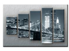 PĚTIDÍLNÝ OBRAZ na plátně CITY - vzor 11