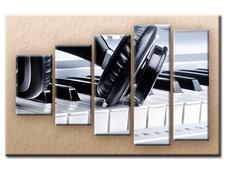 PĚTIDÍLNÝ OBRAZ na plátně PIANO - vzor 16