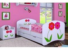 Dětská postel se šuplíkem 180x90cm KYTIČKY