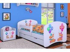 Dětská postel se šuplíkem 160x80cm MEDVÍDCI