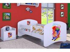 Dětská postel bez šuplíku 180x90cm VESELÁ LOKOMOTIVA