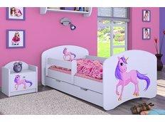 Dětská postel se šuplíkem 160x80cm JEDNOROŽEC