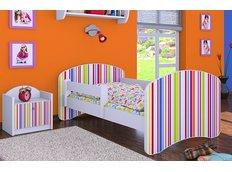 Dětská postel bez šuplíku 180x90cm PROUŽKY