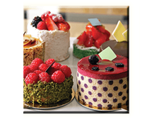 Obraz na plátně 30x30cm CAKE - vzor 27