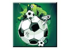 Obraz na plátně 30x30cm FOOTBALL BALL - vzor 57