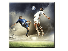 Obraz na plátně 30x30cm FOOTBALL - vzor 58