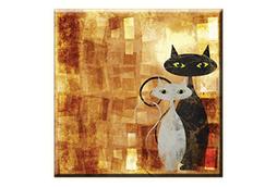 Obraz na plátně 30x30cm CAT - vzor 61