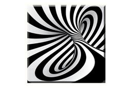 Obraz na plátně 30x30cm OP ART - vzor 65