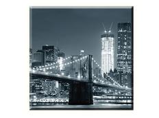 Obraz na plátně 30x30cm NIGHT BRIDGE - vzor 77