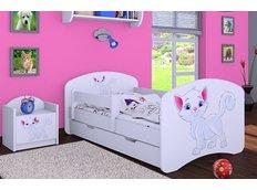 Dětská postel se šuplíkem 180x90cm KOČIČKA