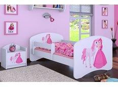 Dětská postel bez šuplíku 180x90cm PRINCEZNA A KONÍK
