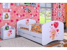 Dětská postel se šuplíkem 180x90cm MEDVÍDEK S BALONKY