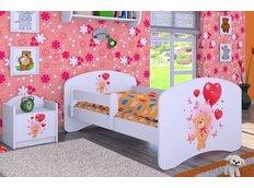 Dětská postel bez šuplíku 160x80cm MEDVÍDEK S BALONKY